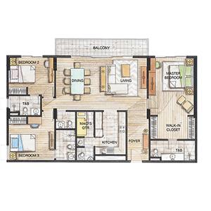 32 Sanson 3 Bedrooms